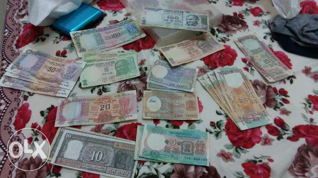 Indian 22 notes and 12 coins مسقط -  1