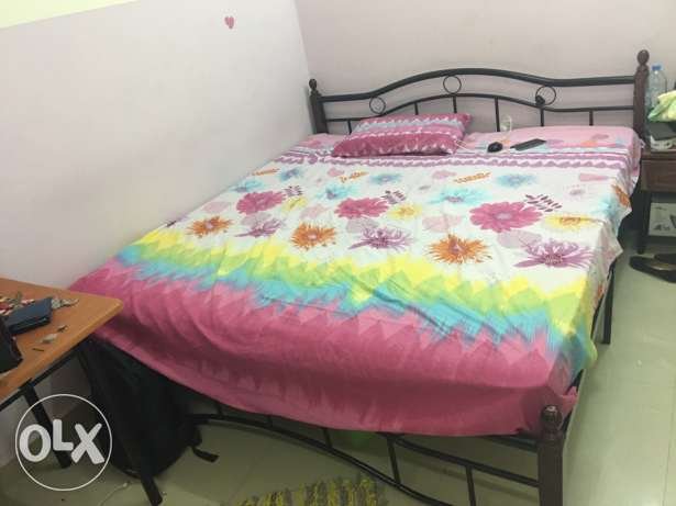 one double bed with matress for sale for omr 25 السيب -  2