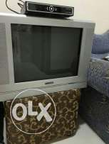 Tv, trolley and receiver