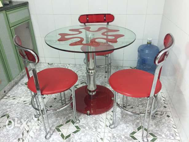 Glass dining table stainless steel frame