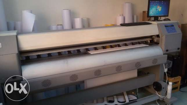 Zhongye 1.8m eco solvent digital printer with DX5 head FOR SALE السيب -  2