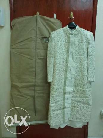 Sherwani with Kurta & Pajama ( Size 40 ) along with 2 blazers(Size 40) الغبرة الشمالية -  2