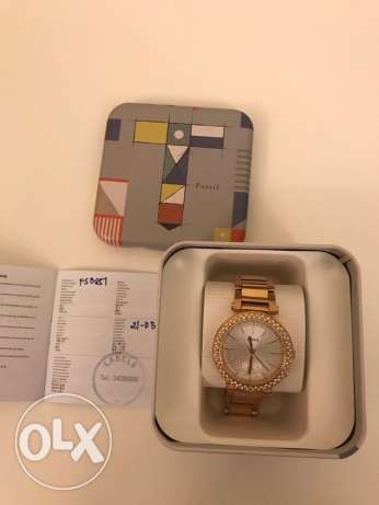 Brand new Fossil gold plated watch ( Original