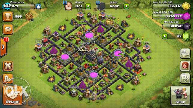 Clash of clans town sell مسقط -  1