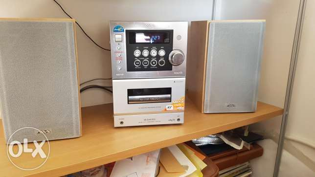 Aiva music system with speakers