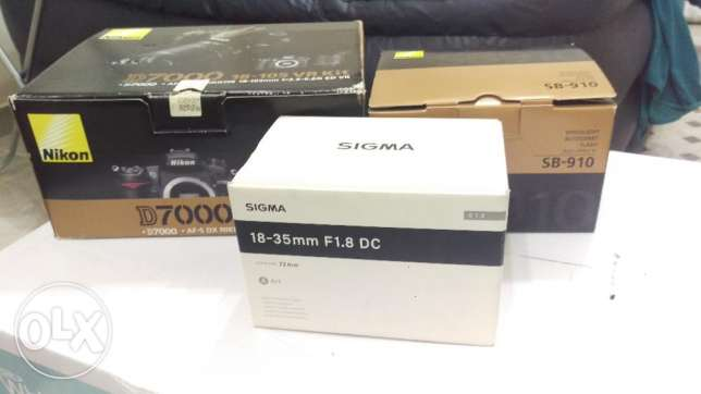 Nikon D7000 with a professional kit with boxes & accessories مسقط -  2