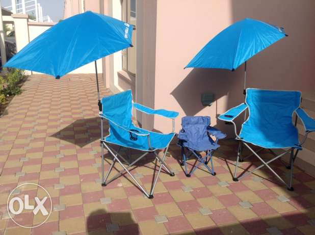 beach chairs in perfect condition (2 adults, 1 child)