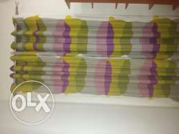 2pairs of curtains with lining for sale