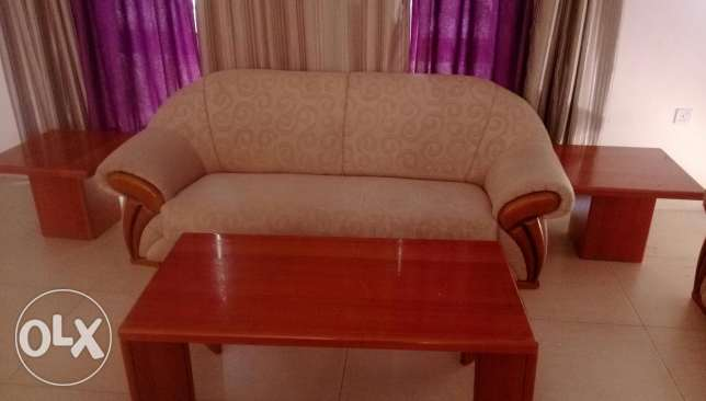 Sofa set 3+2 with center table and side tables