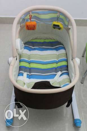 Baby Bouncer + Sitter and Baby Stroller