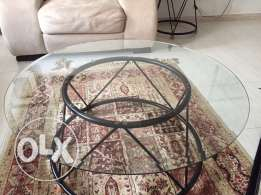 Round Glass Tables Set for Sale