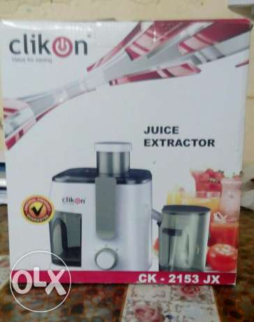 Sale of CLICK ON Juice Extractor