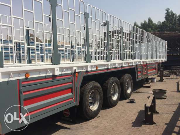 new 3 axle flat bed trailer with warranty of chassis