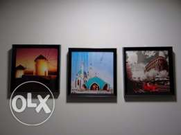 3 Pcs wall photo