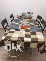 Dining Table-Wooden legs with Wooden top