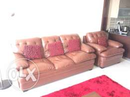 **Reduced** British expat owned excellent condition 3 + 1 sofa leather