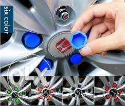 20pcs Silicone Car Wheel Nuts Covers مسقط -  6