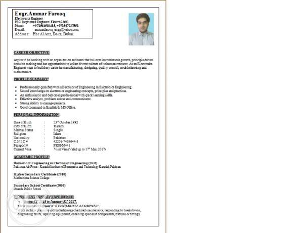 Electronics Engineer, 2 year Experience, looking for job in Oman.