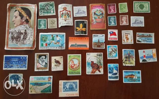 old Antique stamp collection with free stamp album