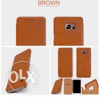 Note 7 luxury brown leather flip cover