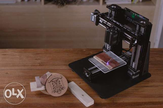 trinus 3d printer with laser engraver