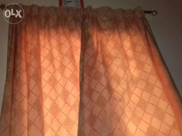 1 pair of quality curtains with rod