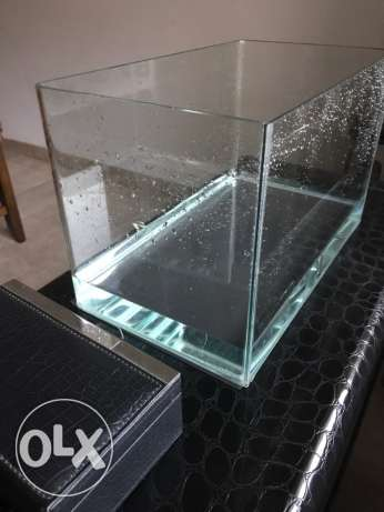 glass aquarium with cover