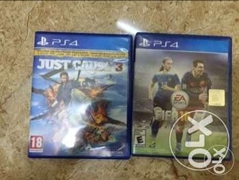بيع شريطين للps4 ( fifa 16 -just cause 3 )4