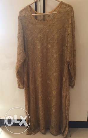 full beaded shafon shirt with slip