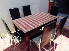 4 Seater Glassed dining table