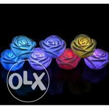 led roses- battery operated- 4 pieces