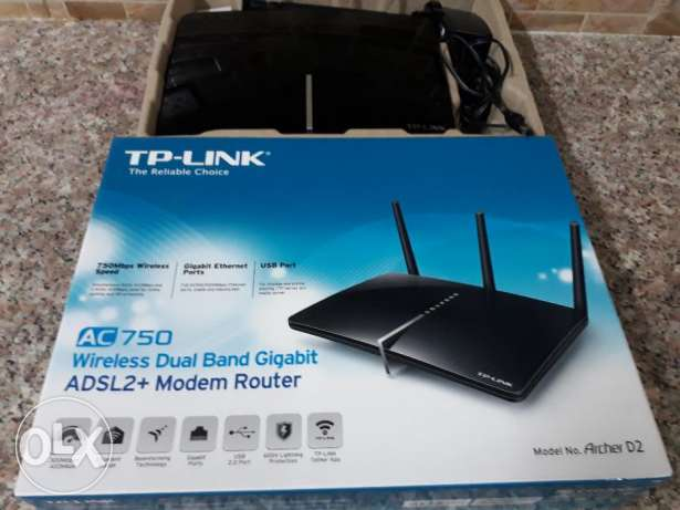 Tp-link AC 750 adsl+Modem router 1 month only use