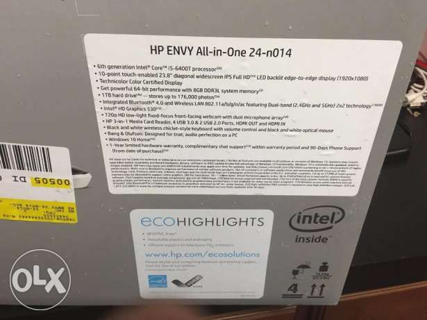 NEW HP Envy 24-n014 23.8 سمائل -  2