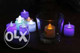 led candles with FREE battery-colour changing مسقط -  1