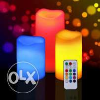 led candle set 3 pierces with remote control- OFFER