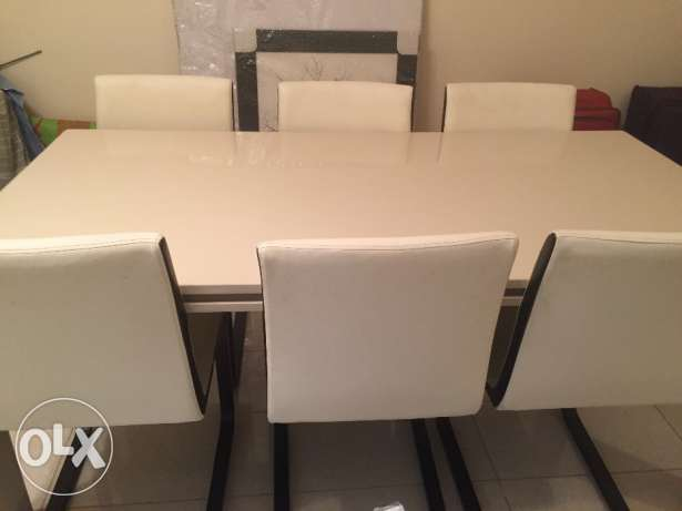 Dining table with six chairs for sale