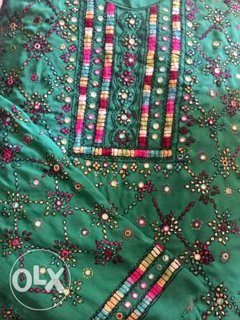 beautiful balochi and shisha work on it