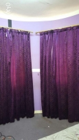 curtain of window with rod new condition for sale