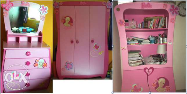 Pink Barbie bedroom set from Home Center