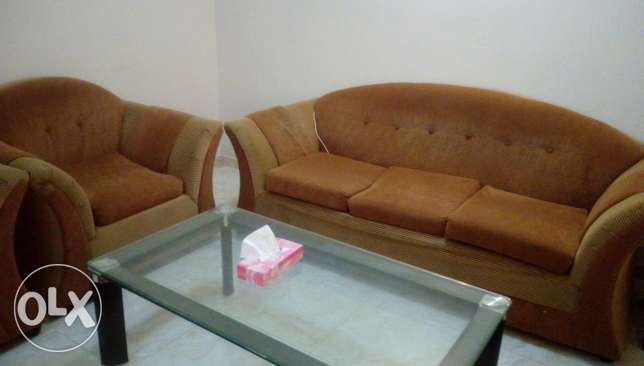 5seater sofa with table