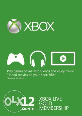 Xbox Live 12 Months GOLD Subscription Card