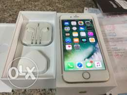 Iphone 6s gold 64gb with warranty and clear coat brand new condition