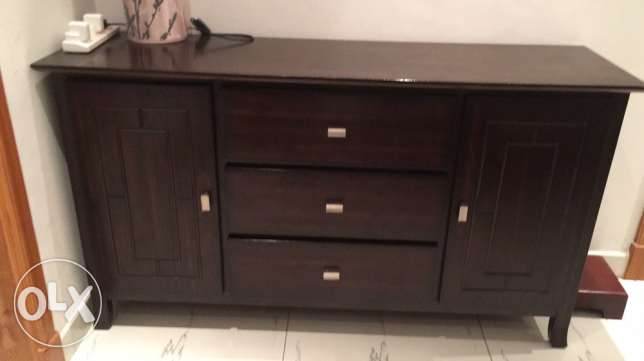 wood cabinet and drawers