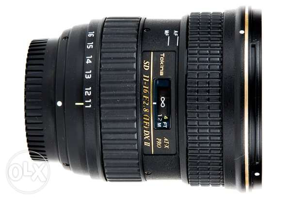 Tokina 11-16 f 2.8 wide angle lens for nikon