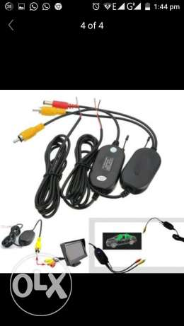 2.4G Wireless RCA Video Transmitter & Receiver For Car Vehicle Backup