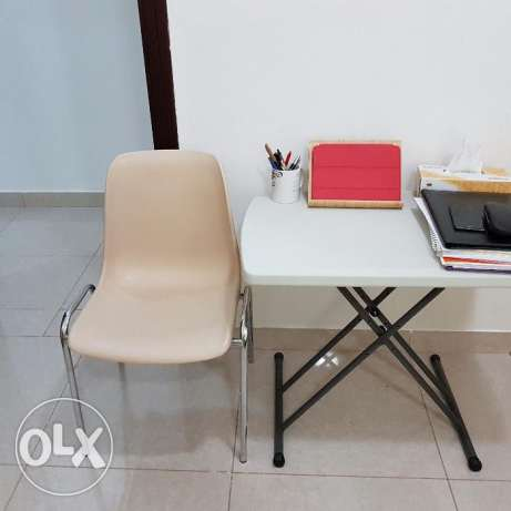 Study table with chair.