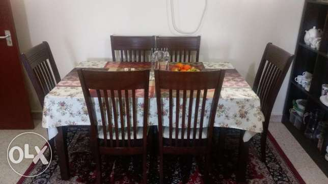 6+1 Solid Wood Dining Table