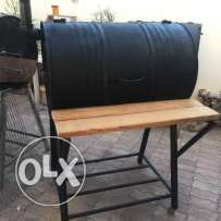 Oil drum BBQ and smoker