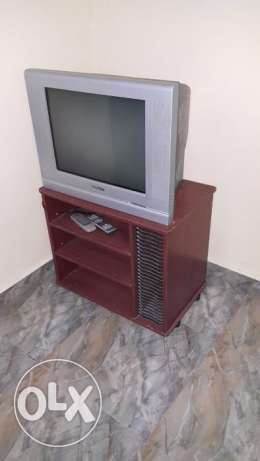 Tv and steel cot