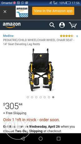 Peadatric wheelchair